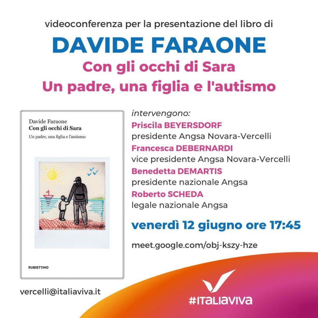 """""""Con gli occhi di sara"""", oggi su Meet con Italia Viva Vercelli"""